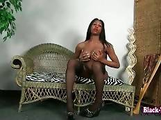 Hot Shaped Black T-Girl Poses For You 1