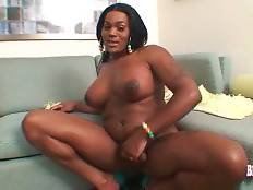 Black tranny readily demonstrates you her delicious body.