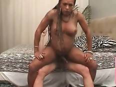 Craving Black Tranny Adores Anal Massage 1