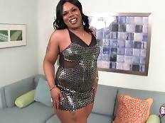 Fleshy ebony she-male Heaven invites you to have fun with her.